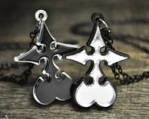 Kingdom Hearts Nobody Emblem Friendship Set Cosplay Necklace