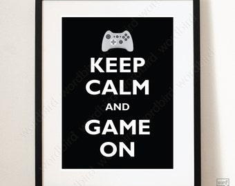 Gift For Him, Boys Room Decor, Video Game Poster, Geek Decor, Gamer Art print, Gamer Gift, Gift For Her, Video Game Art, Game Room Decor