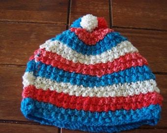 Crochet Tea Cosy with Pom Poms-  Handmade - Made In Australia