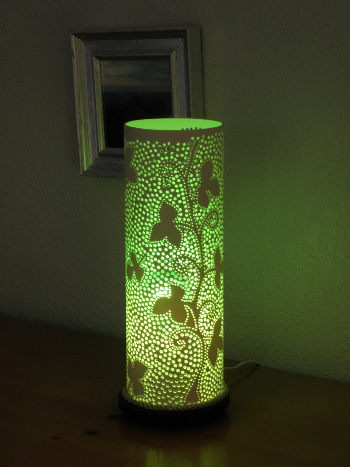 Handmade Recycled Pvc Pipe Table Lamp Ivy Design
