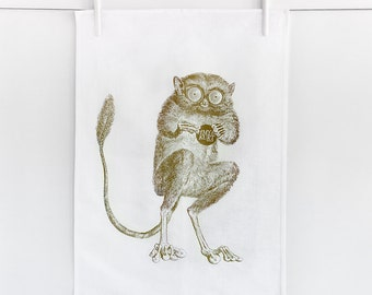 "Tea towel ""Khaki macaco"""