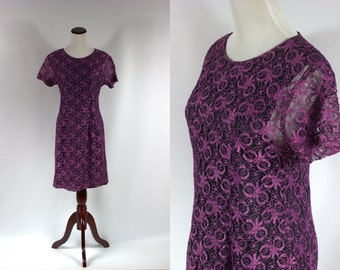 S a l e • Purple Lace Bow Mini Dress -- Size Sm