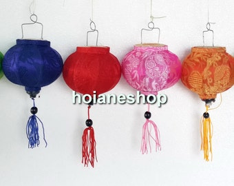 8 Mini Lanterns - Hoi an silk lanterns for WEDDING Party Decor  - String lanterns