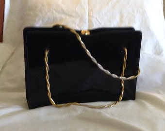 Retro Classic Patent Leather Purse