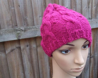 knitted cable hat lighter knitted hat autumn knitted cable hat