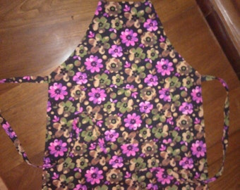 Camouflage Flowered Double Fabric Chef Style Apron Free Shipping