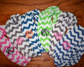 ON SALE!! Mongrammed Chevron Infinity Scarf - LOTS of colors!