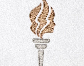 Machine Embroidery Design, LDS Young Women Torch, digital instant download file..