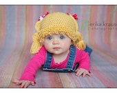Cabbage Patch Hat/Wig for newborn- 12months