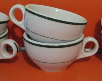 Jackson China Diner-ware Tea/Coffee Cups, Set of Six