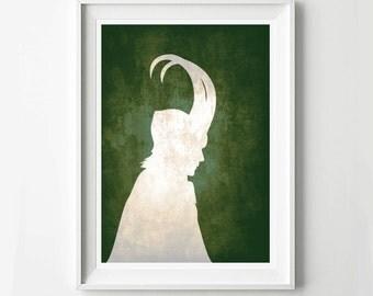 Loki Avengers Poster - Movie poster, Minimalist print, Digital Art Print