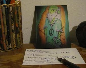 Postcard - Hippie