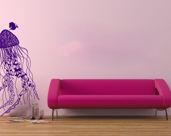 Jelly Fish Wall Decal Vinly Sticker Jelly Fish and Dori