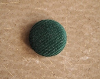 Green corduroy fabric covered buttons (size 60, 40, 32, 20, or 18)