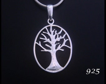 925 Sterling Silver Tree of Life Necklace with a Celtic Influence Tree of Life Pendant - Tree of Life Jewelry, Tree of Life Necklace 051