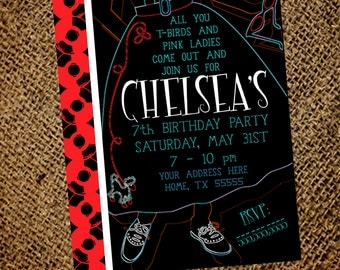 50's Birthday Party Invitation