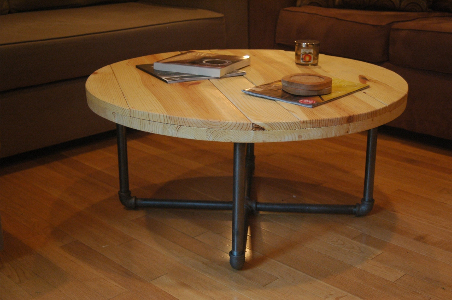 industrial round end table industrial coffee table local delivery only ohio 507