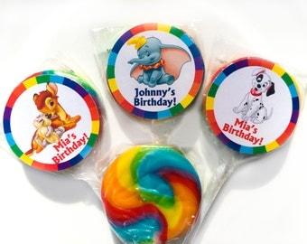 Dumbo 101 Dalmatians Bambi Personalized Mini Lollipops