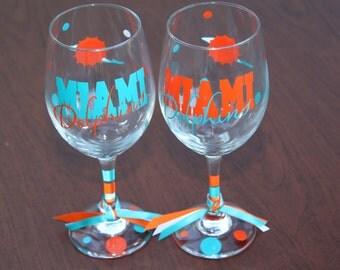 Miami Dolphins Glassware