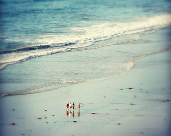 Nature and People Photography.  Beach, Sea, Ocean Photography. 8x12 Print