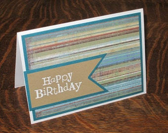 Happy Birthday card, Masculine Birthday card, Birthday card for him