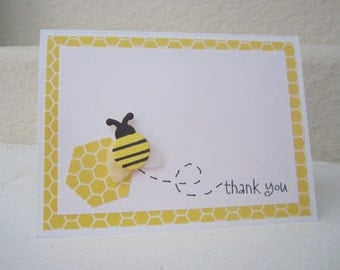 Thank You Bee card, Bee Thank You Card, Thank You card