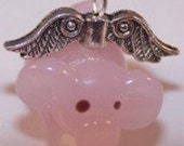 Flying Pig Car Rearview Mirror Charm, Whimsical Gifts, Sweet 16, Young at Heart, Rear View