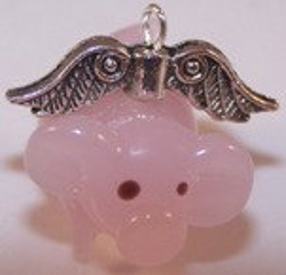 Flying Pig Car Rearview Mirror Charm, Whimsical Gifts,   Sweet 16, Young at Heart