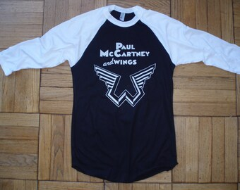 Paul McCartney and Wings t-shirt new vintage style concert tour the beatles choose size XS-3XL