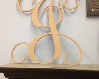 Single Letter Wooden Monogram