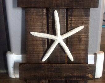Pallet wood starfish wall art