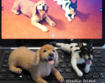 Custom made to order Needle felted pet/ dog/ cat