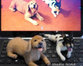 Custom made to order Needle felted pet/ dog/ cat