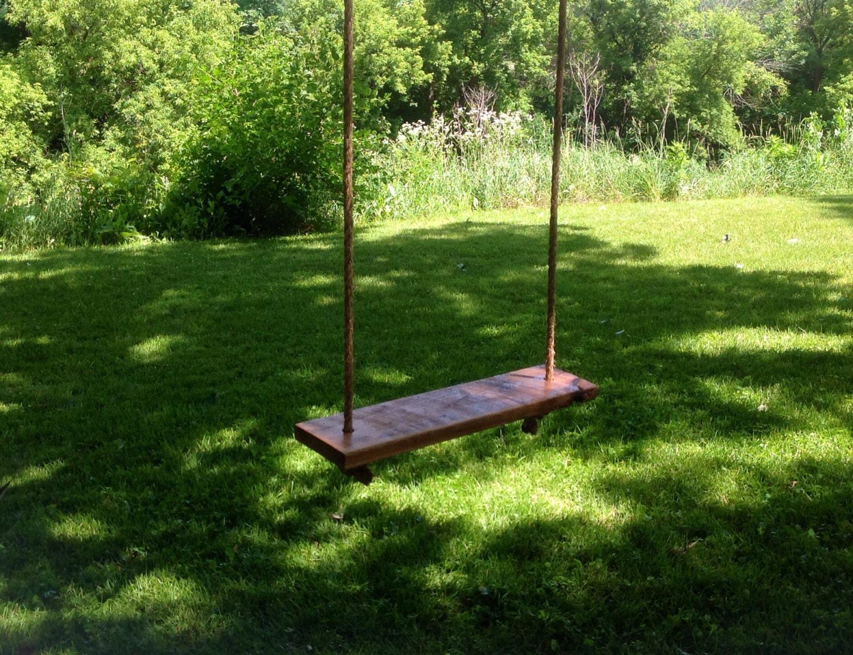 Reclaimed Oak Wood Tree Swing EXTRA LARGE 18 Ft Of Rope