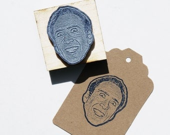 Nicolas Cage Face Stamp Nic Cage Stamp Nicolas cage portrait Nic cage birthday Nicholas Cage stamp Weird Stamp Free Shipping in Canada!