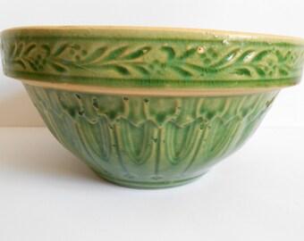 Vintage Green Kitcen Bowl