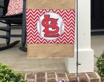 St. Louis Cardinals Burlap Garden flag