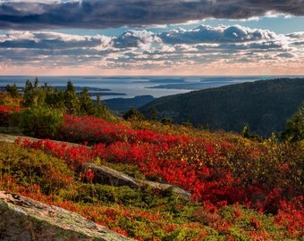 Sunset at Cadillac Mountain, Acadia National Park