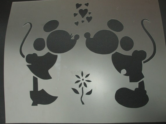 "Items Similar To Stencil Mickey & Minnie Mouse #30 11""x 9"