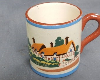 Torquay Pottery Anne Hathaway Souvenir Miniature Mug!