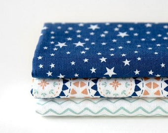 Camping - Quarter Fabric Pack 3 Fabric 1set - Sets for 3 each 45 X 55 cm