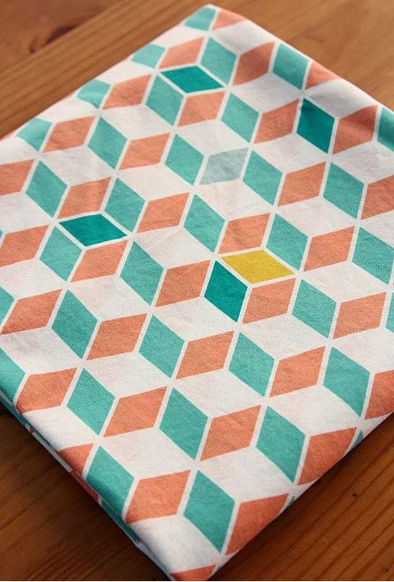 Cube nordique scandinave r p ter tissu coton - Tissu ameublement scandinave ...