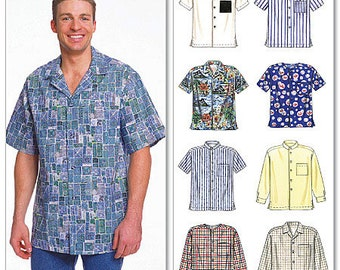 McCall's Sewing Pattern 2149 Men's Button-Down Shirts