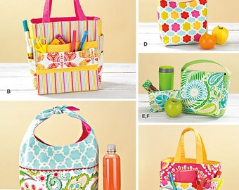 Simplicity Sewing Pattern 1385 Art Caddies Bags and Snack Bags