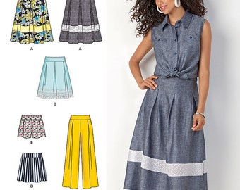 Misses' Skirts, Shorts and Wide Leg Pants Simplicity Pattern 1464