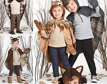 Simplicity Sewing Pattern 1304 Child's Lined Animal Cape Costume