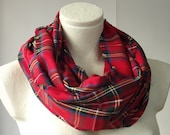 AUTUMN 2014 Red Plaid Infinity Scarf