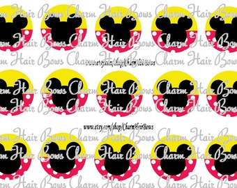 Mickey and Mickey Mouse bottle cap images