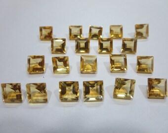 2.00 Cts Natural Citrine Square 7x7 mm-1 Pcs