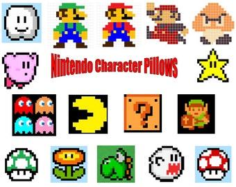 Nintendo Character Pillows